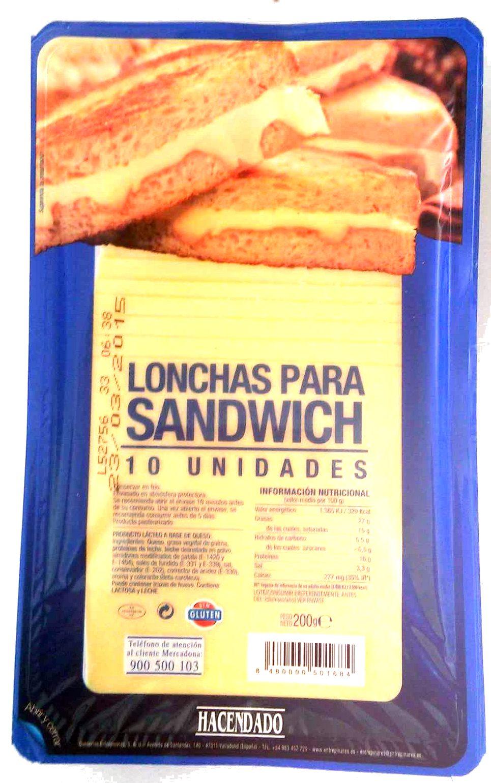 Lonchas para sándwich - Producte - es