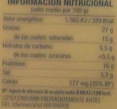 Lonchas para sándwich - Informació nutricional - es