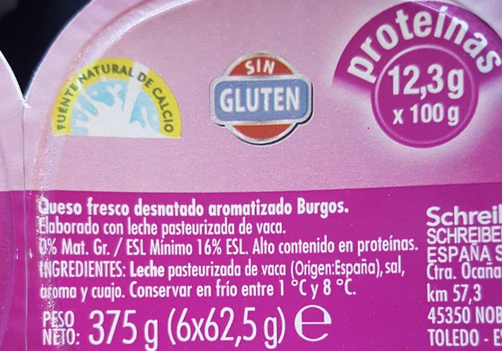 Queso fresco de Burgos - Ingrédients