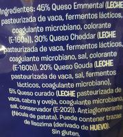 Funde y Gratina - Ingredients