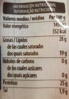 4 quesos - Informació nutricional - es