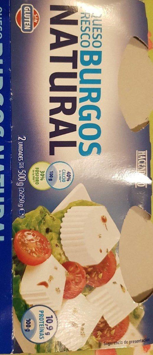 Queso fresco burgos valor nutricional