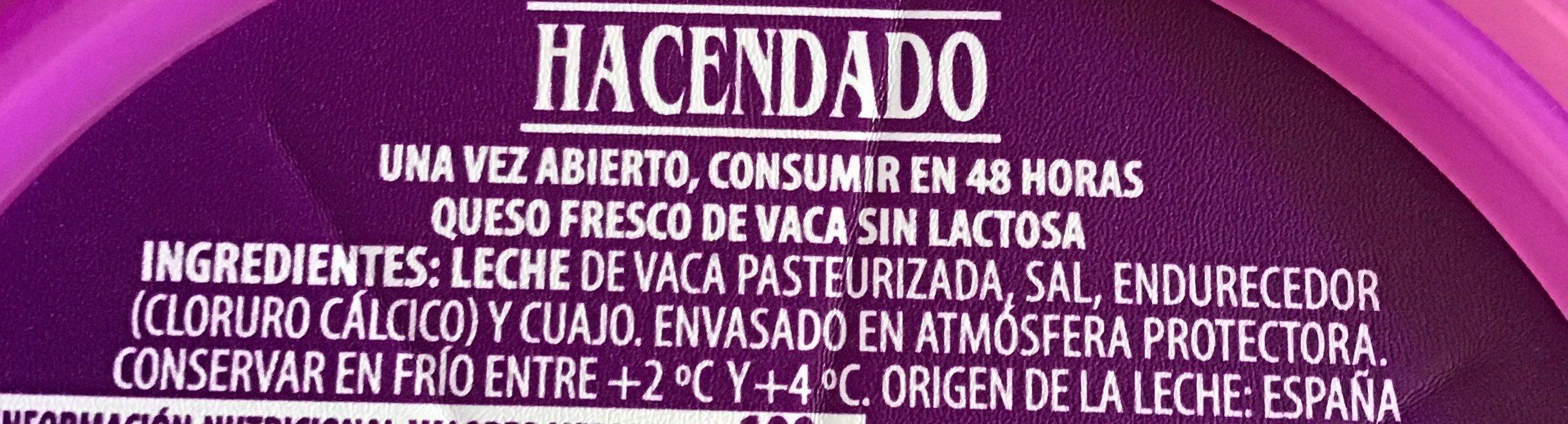 Queso fesco - Ingredients