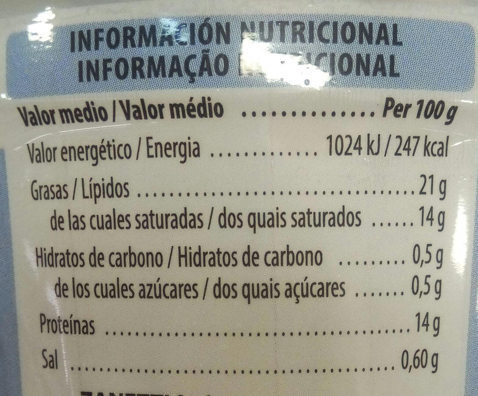 Mozzarella di bufala campana - Nutrition facts - es
