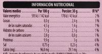 Queso Blanco Light - Información nutricional