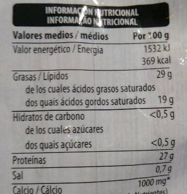 Emmental gratinar - Voedingswaarden - es