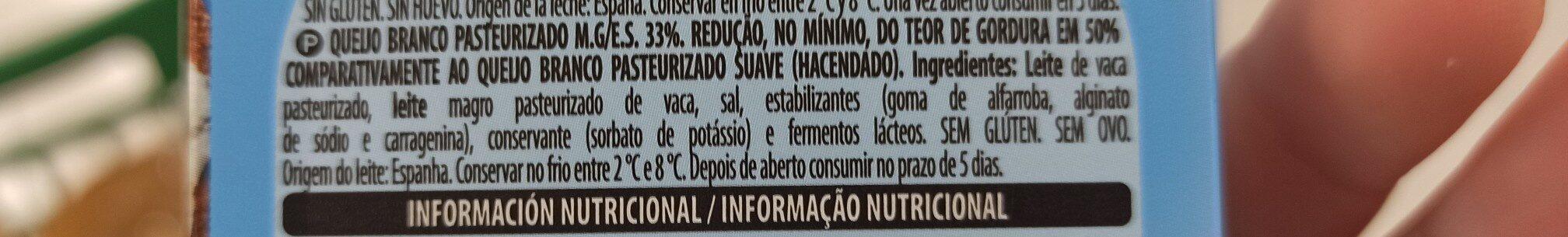 Queijo pasteurizado - Ingredienti - pt