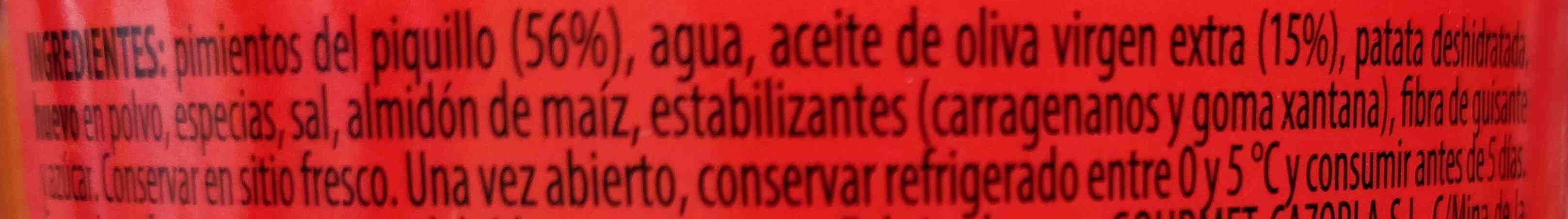 Pimientos del piquillo con aceite de oliva - Ingredientes - es