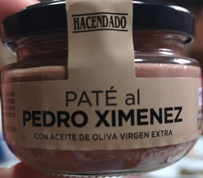 Paté al Pedro Ximenez con aceite de oliva virgen extra
