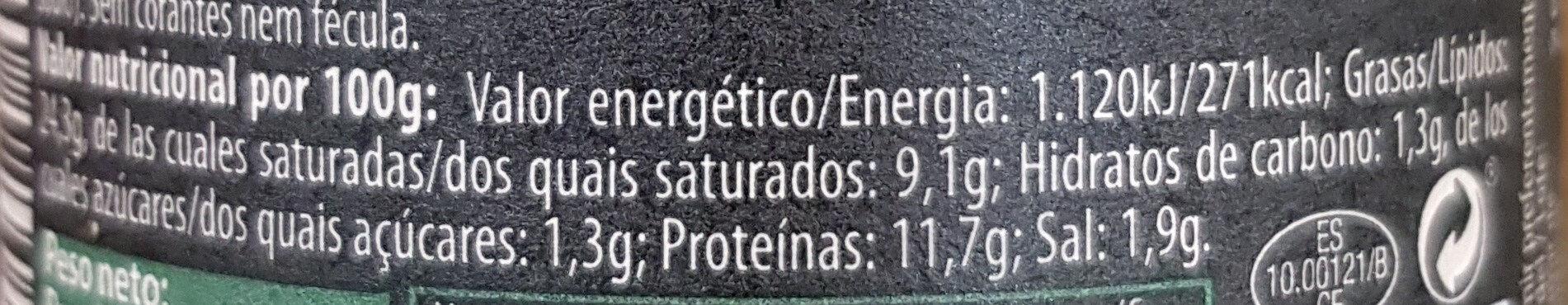 Finas Hierbas - Informations nutritionnelles - es