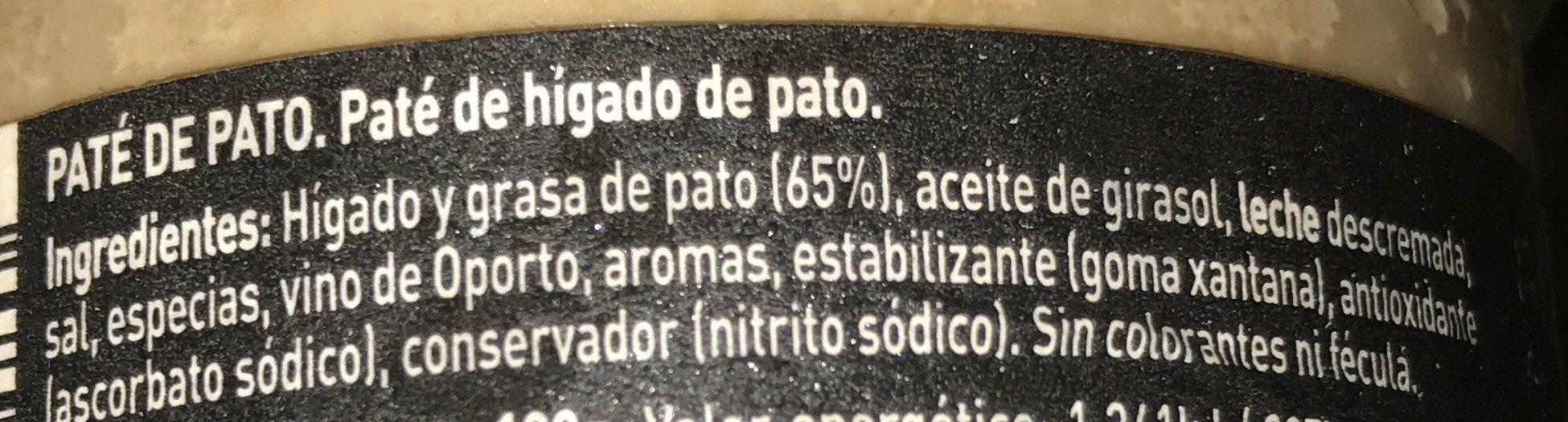 Paté de pato - Ingrediënten