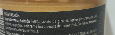 Paté de salmón - Ingredients - es