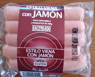 Salchichas estilo viena con jamon - Product - es