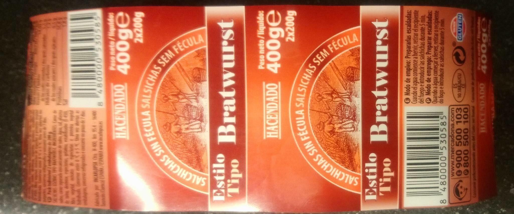 Salchicha estilo bratwurst - Product - es