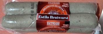 Salchicas cocidas estilo bratwurst - Producto - es