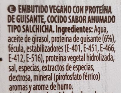 Salchichas veganas - Ingredientes