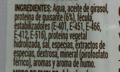 Saucisses veganes - Ingredientes