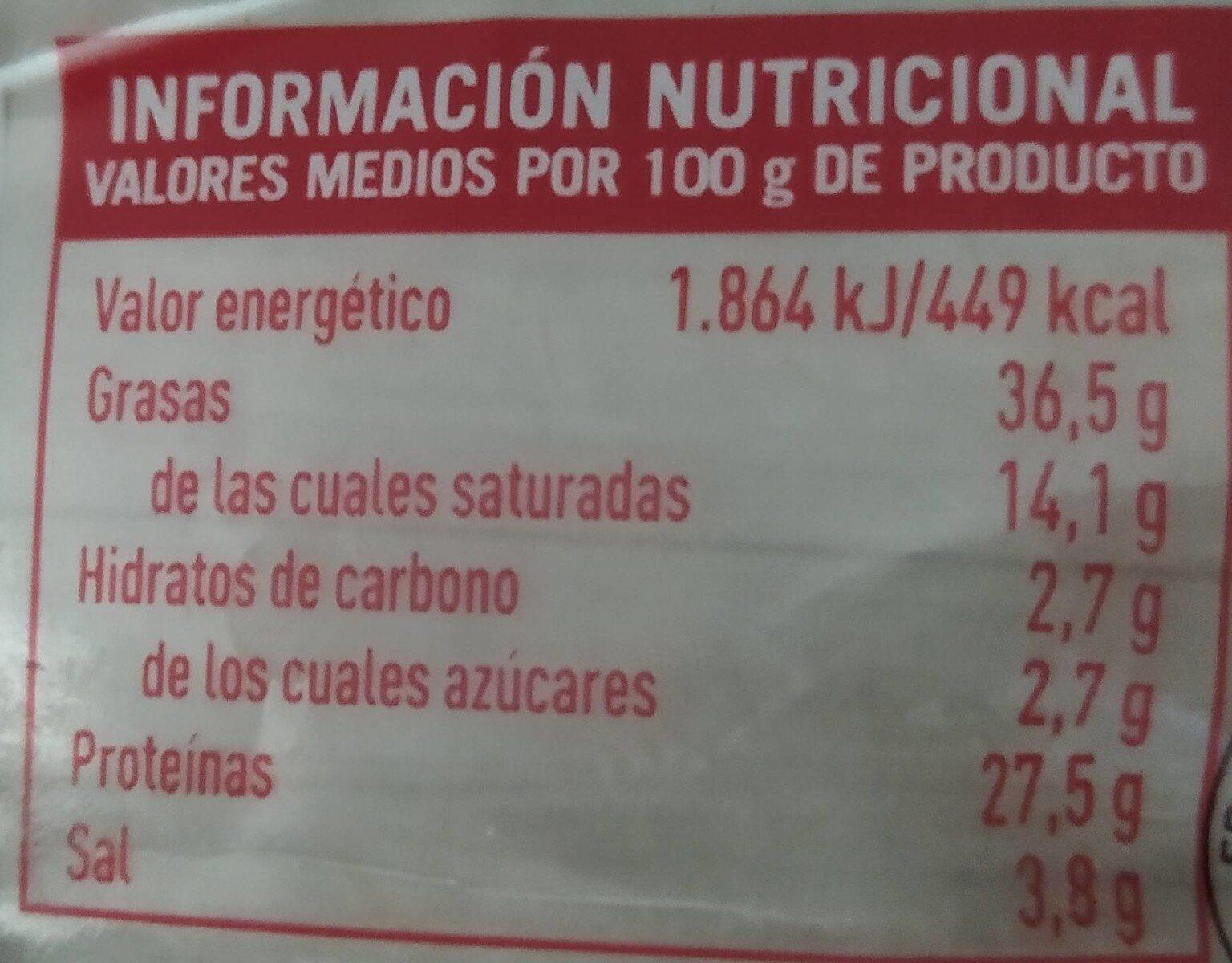Longaniza Clásica - Informations nutritionnelles - es