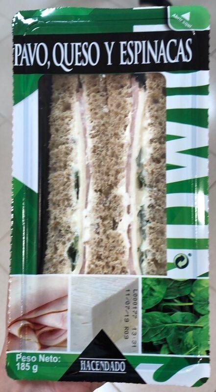 Sandwich pavo, queso y espinacas - Producte - es