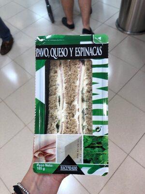 Sandwich pavo, queso y espinacas - Producto