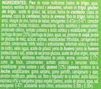 Sandwich pavo, queso y espinacas - Ingredients - es