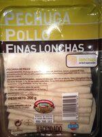 Pollo finas lonchas - Producte