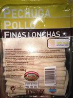 Pollo finas lonchas - Produkt