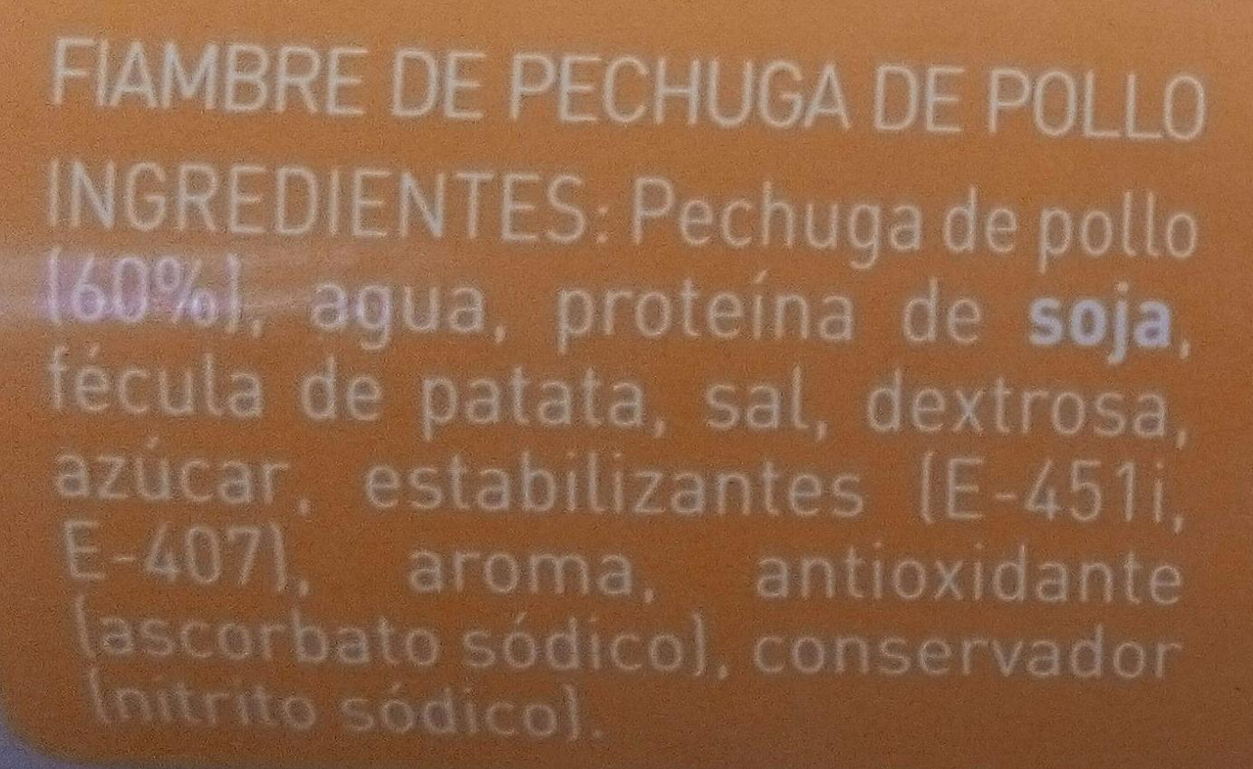 Pechuga de pollo - Ingrediënten - es