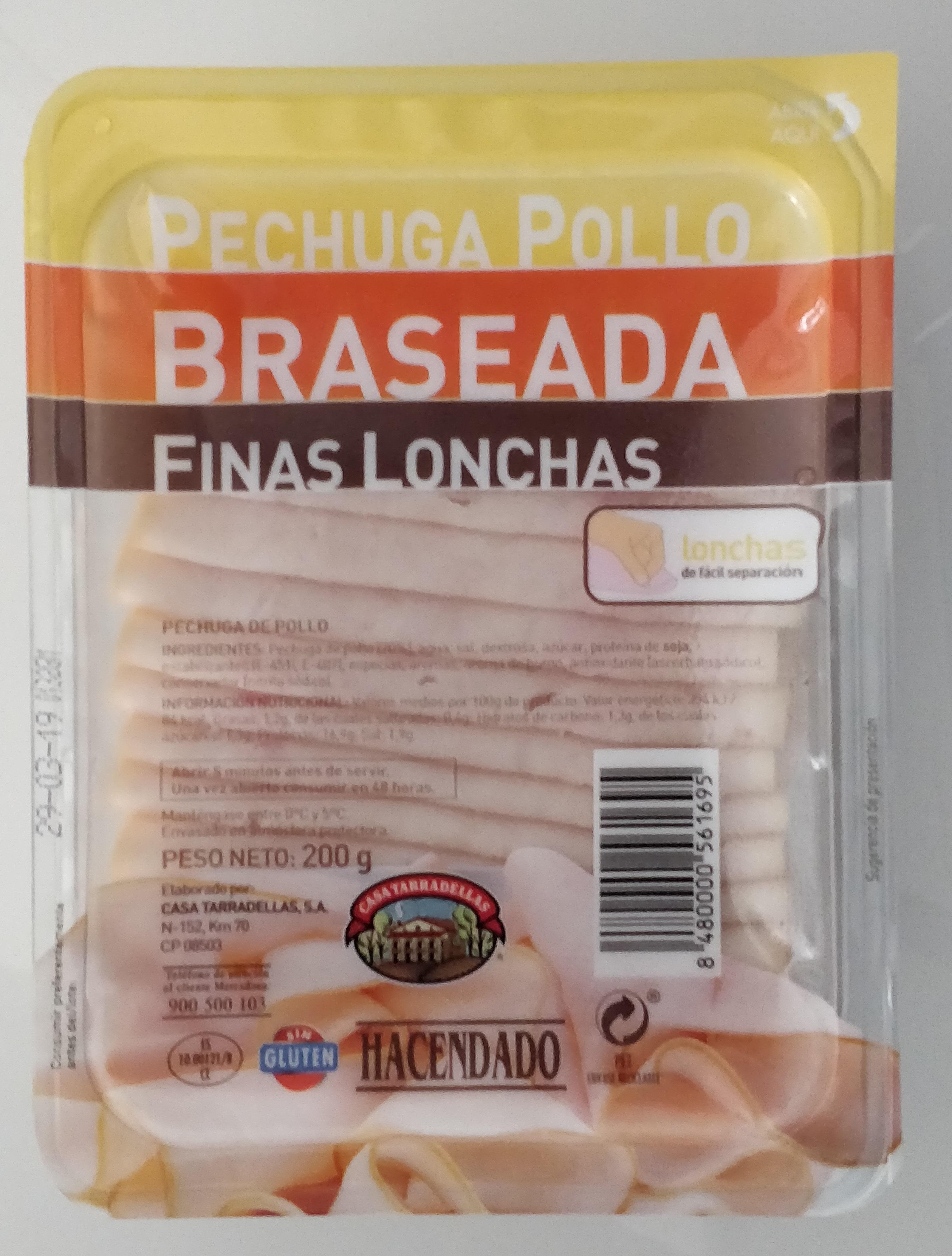 Pechuga pollo braseada finas lonchas - Product - es