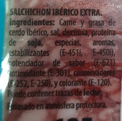 Salchichón ibérico - Ingredients - es