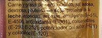 Mini salchichón ibérico extra - Ingrediënten - es