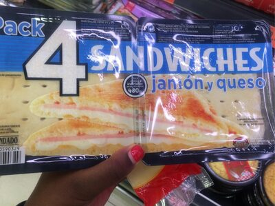 Pack 4 sandwiches jamón y queso - Producto - es