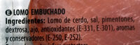 Lomo - Ingredients - es
