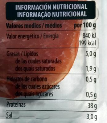 Lomo - Informació nutricional - es
