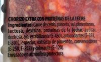 Chorizo extra - Ingrédients - es