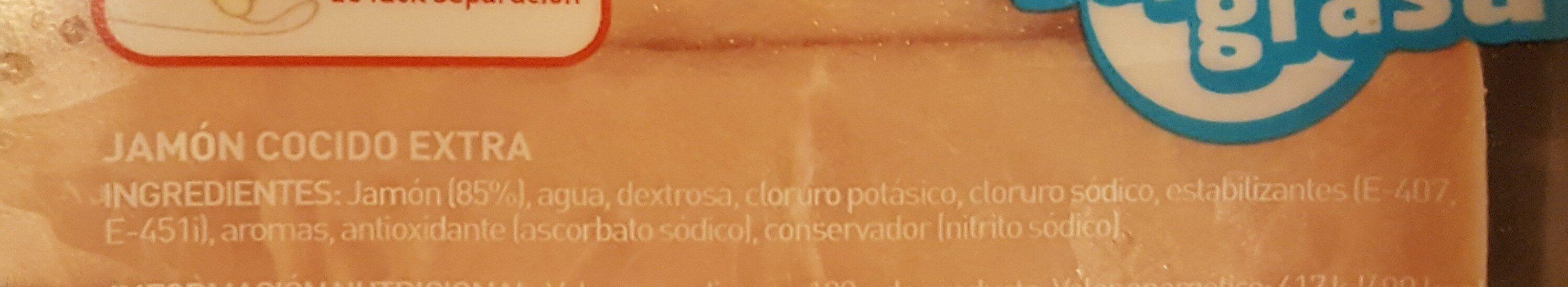 Jamón cocido finas lonchas bajo en sal - Ingredientes - es