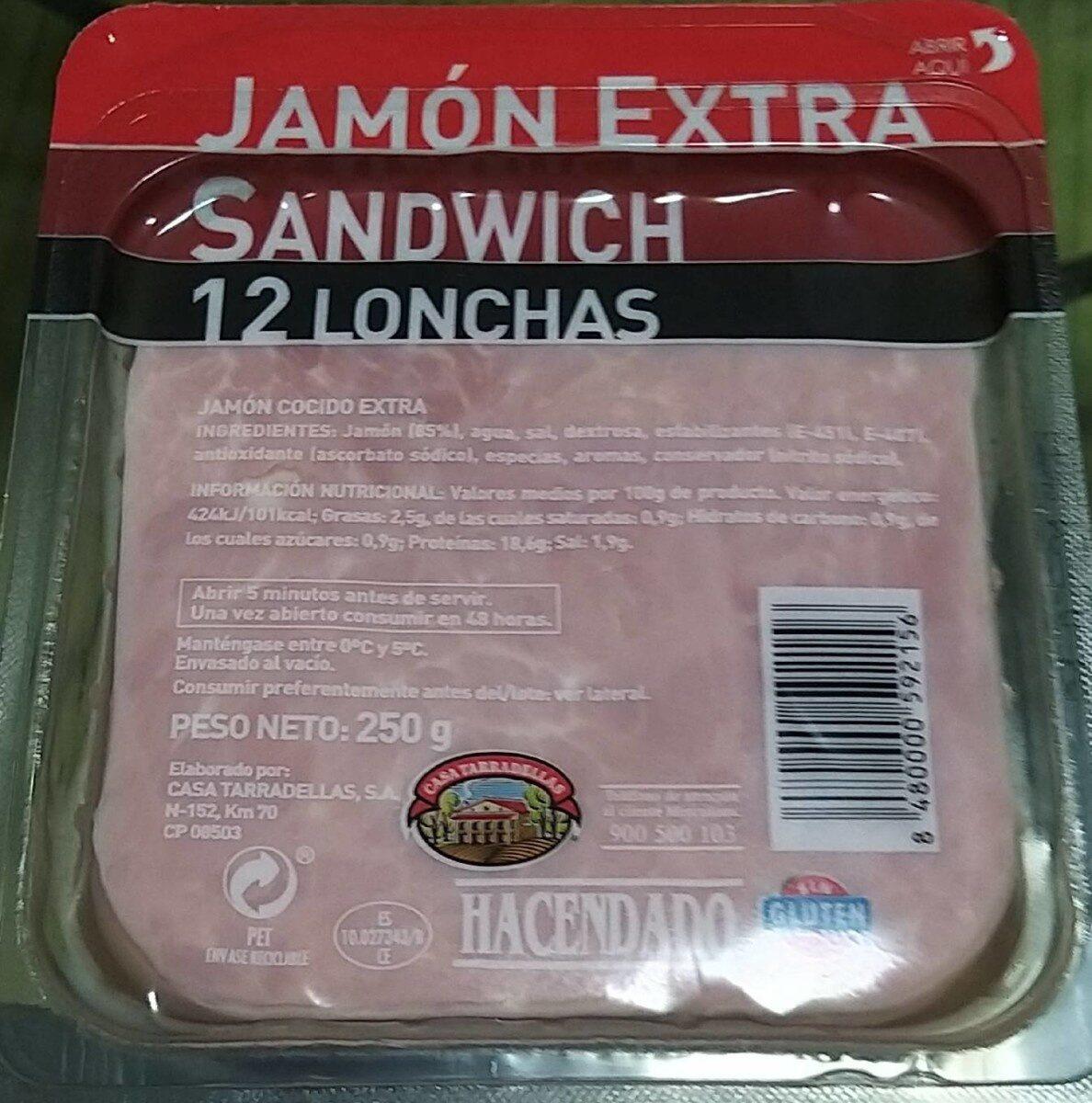 Jamón extra sandwich - Produit - es