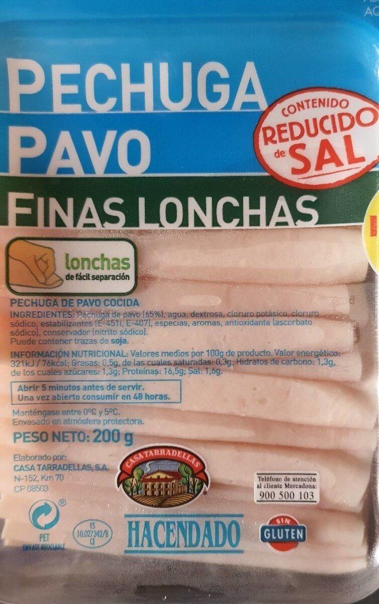 Pechuga pavo finas lonchas reducido de sal - Product - en