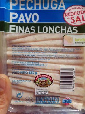 Pechuga pavo finas lonchas - Product - es