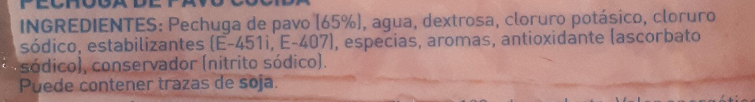Pechuga pavo finas lonchas reducido de sal - Ingredients - es