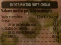 Mortadela con aceitunas - Información nutricional - es