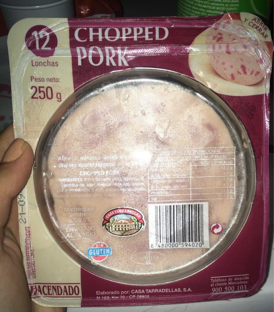 Chopped pork - Producte - es