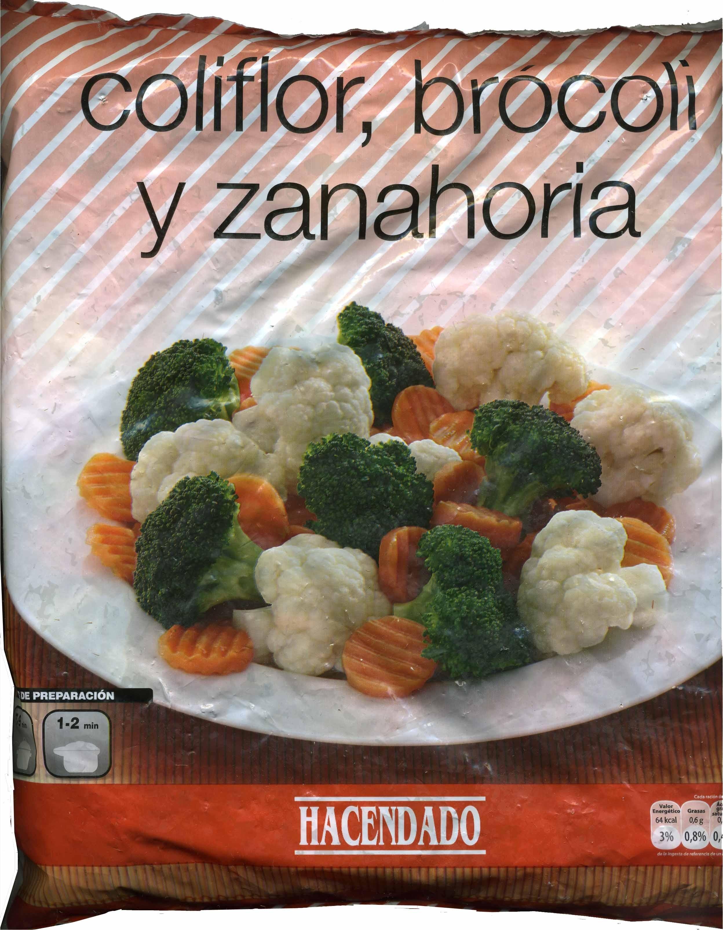 Coliflor, brocoli y zanahoria - Produit