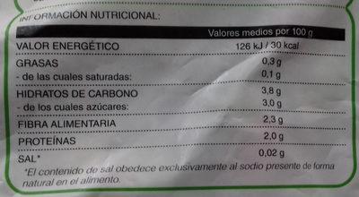 Salteado de verduras - Nutrition facts