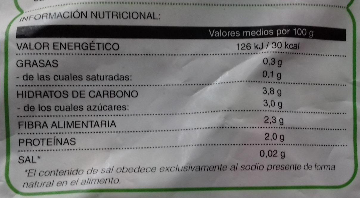 Salteado de verduras - Informations nutritionnelles - es