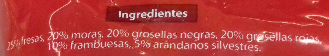 Mezcla de frutas rojas - Ingredientes