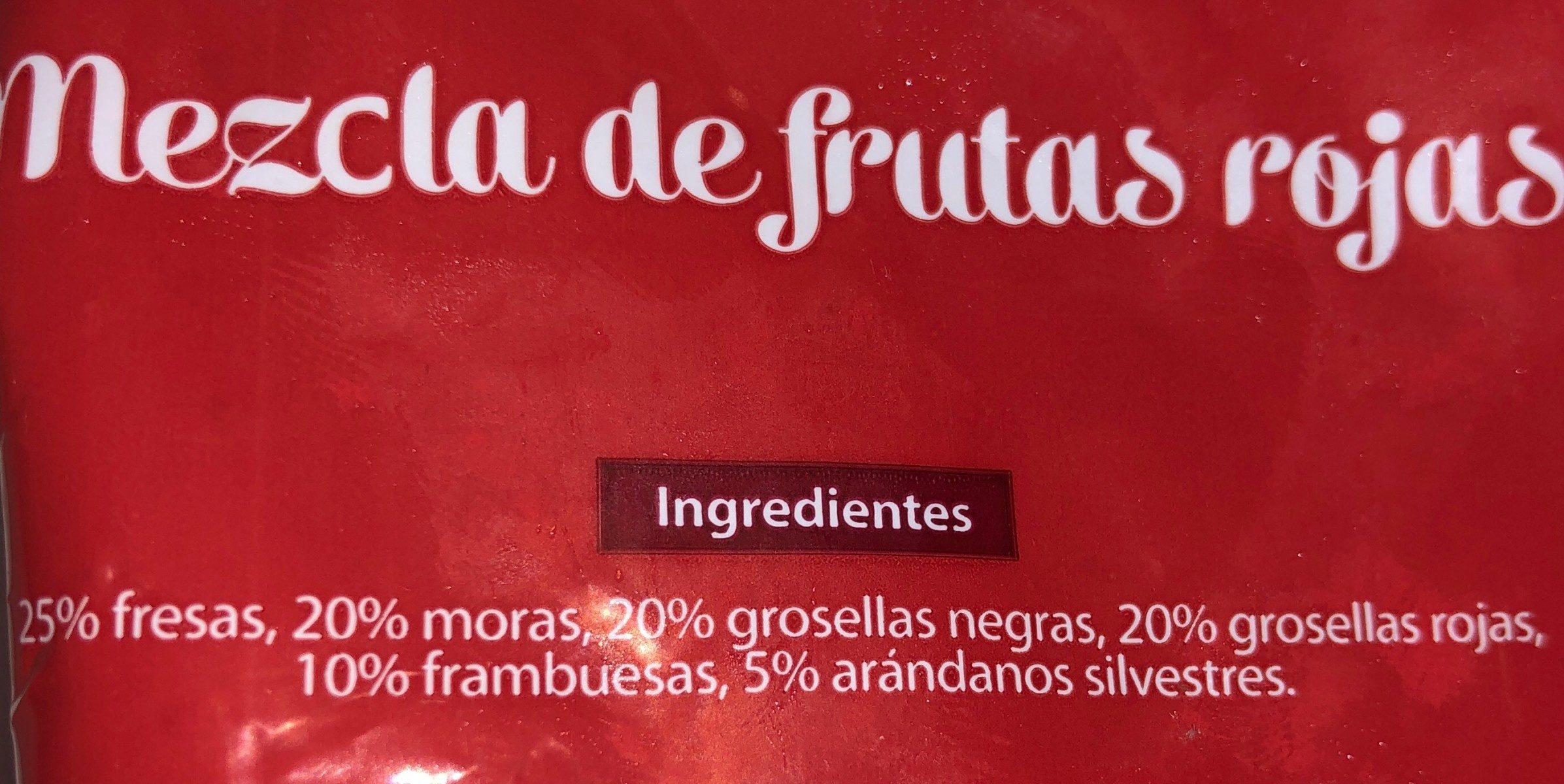 Mezcla de frutas rojas - Ingrédients - fr