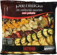 Parrillada de verduras asadas con patata hacendado 400 g for Parrillada verduras