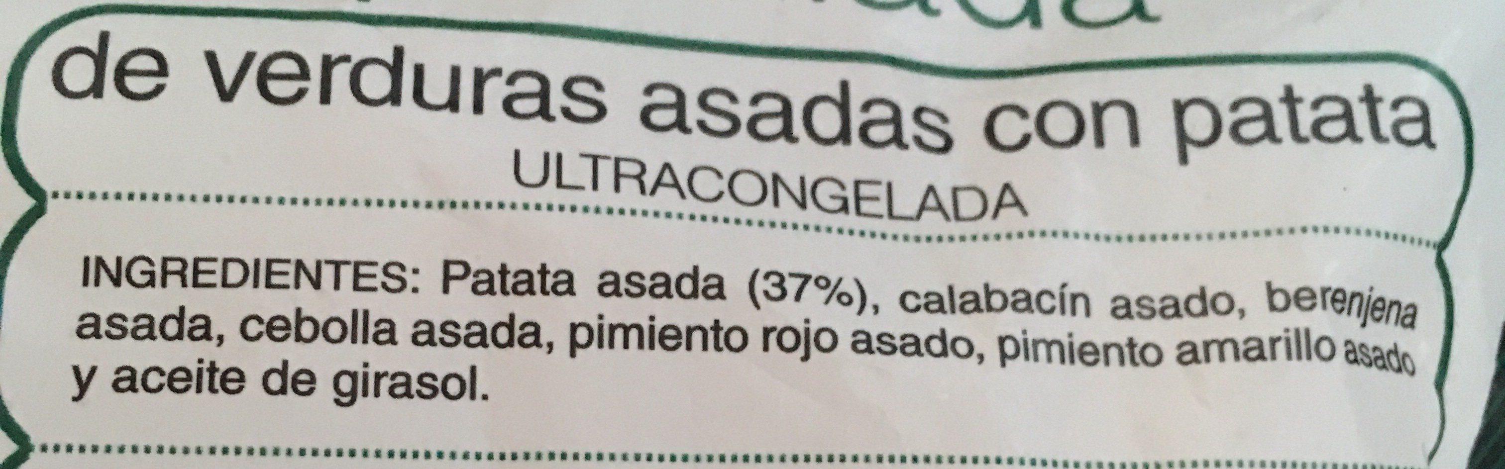 Parrillada de verduras asadas con patata - Ingrédients - fr