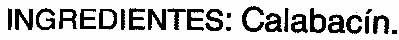 Calabacines en dados - Ingrédients - es